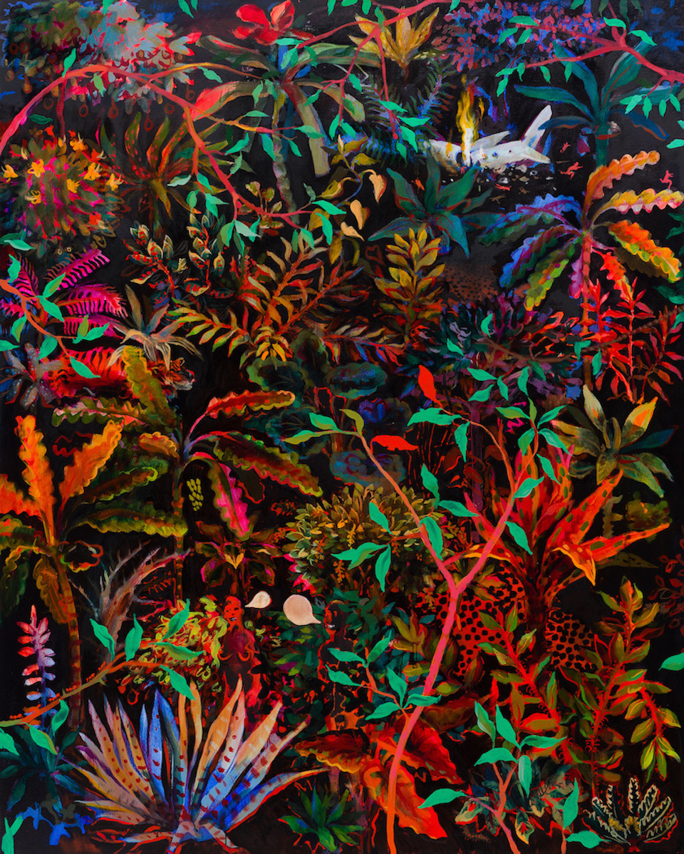 A Plane Crash in the Jungle  (oil on linen 152x121cm)