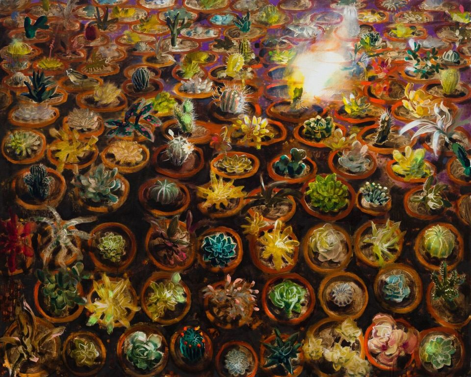 Burning Cactus (oil on linen 121x152cm)