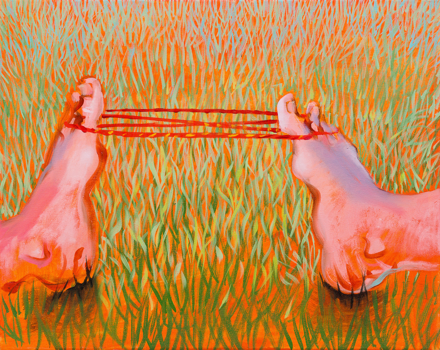 Cat's Cradle with Feet (oil on linen 40x50cm)