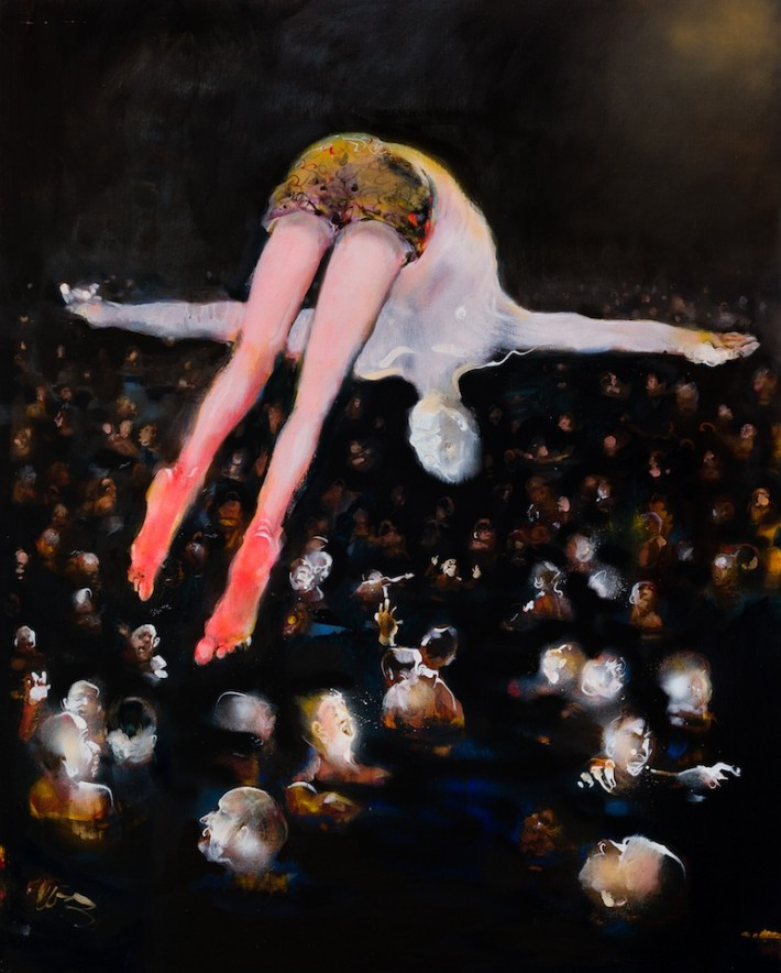 Swallow Dive  (oil on linen 152x121cm)