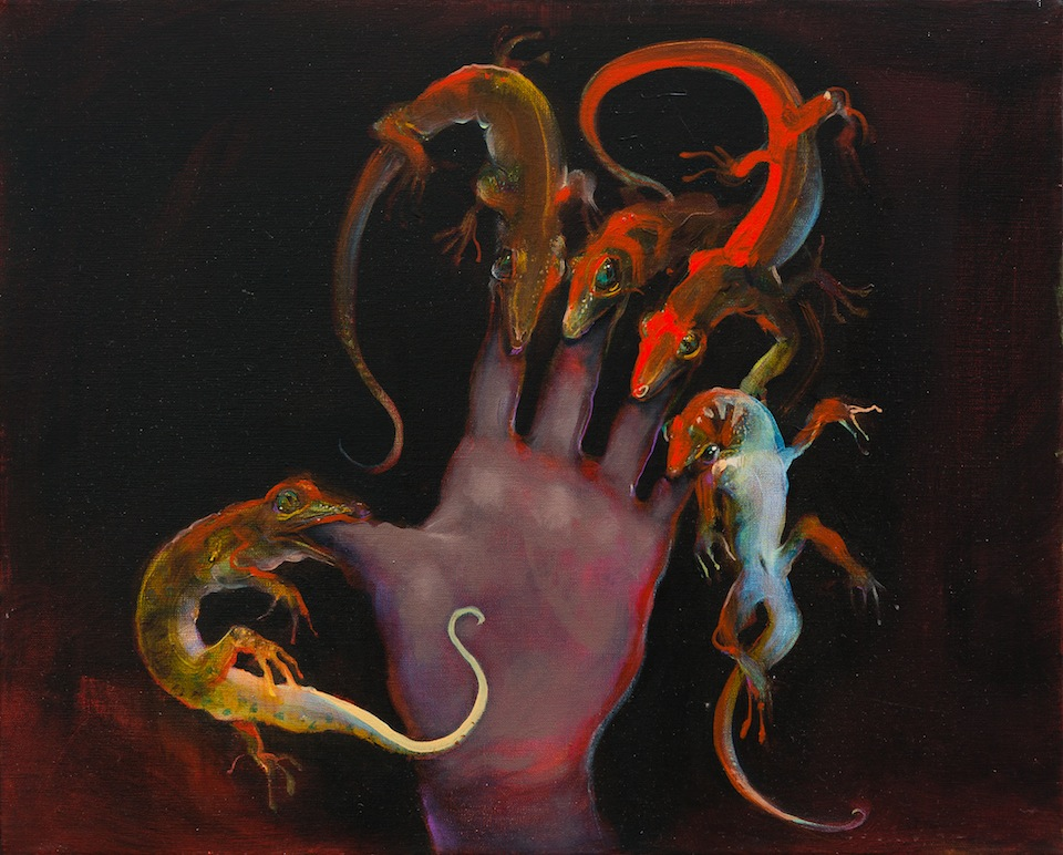 The Hand that Feeds  (oil on linen 40x60cm)