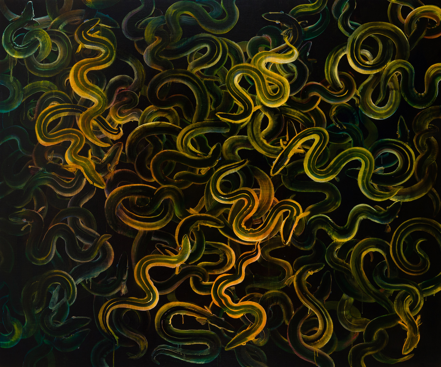 Eels (oil on linen 152x183cm)
